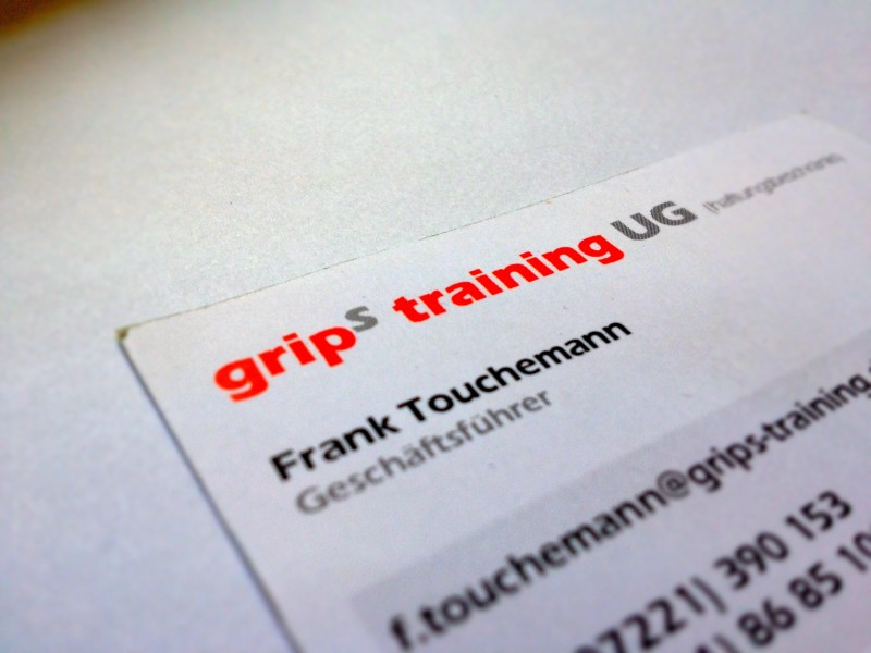 grip(s) training Visitenkarte